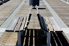 Back to Back - Happy Bench Monday!!! (LarryJay99 ) Tags: ocean blue sky people beach bench pier fisherman sand florida piers bluesky things structure atlantic benches atlanticocean junobeach canonefs18135mmf3556is benchwormers ilobsterit piersg