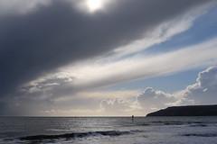 Glimmer (pauldbrown) Tags: yaverland beach foreboding iow isleofwight sea seascape sky