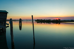 Wooden reflections (martintimmann) Tags: sundown refection wood venice boathouse evening sea availablelight
