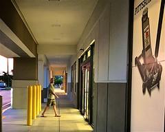 Yellow (LarryJay99 ) Tags: signage corridor dudes corridors legs guys ip7 man guy bollards passage flipflop male men dude urban photostream iphone7plusbackdualcamera399mmf18