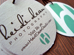 heidi dean photography - double-sided hang tags