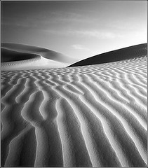 Empty Quarter (Markus Zaiser) Tags: travel light sunset shadow bw abstract black art texture 120 film blanco monochrome analog landscape mono licht blackwhite al sand desert empty dunes fine east filter arabia quarter scala analogue 6x7 middle agfa oman rub khali mamiya7