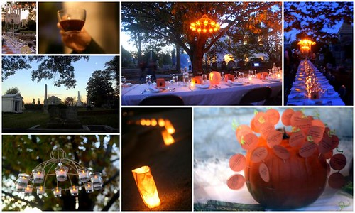 Hallow's eve dinner at an historic cemetery