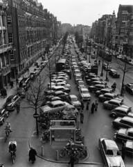 05-00-1956_13909_2 Rokin (IISG) Tags: auto car amsterdam bike bicycle traffic map parking tram kaart fiets plattegrond parkeren verkeer vervoer benvanmeerendonk