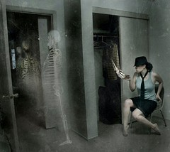 183.365 ~ .inviting them out. (just.K) Tags: texture me closet dark out tickets shadows hand room manipulation line hallway trf doorway invitation bones yeartwo fedora skeletons omg scratchy nosocks 365days 183365 justk crazinessupinhere