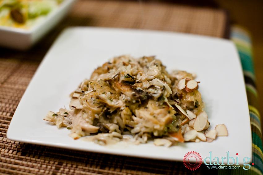 Wild Rice Chicken Mushroom casserole101