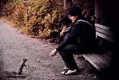 squirrel (Lotte Pilotte) Tags: canada vancouver squirrel kodakportra400vc stanleypark erik beaverlake nikonf80