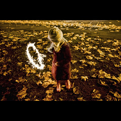 Circle (rmrayner) Tags: autumn fall leaves night circle fun movement child play firework slowshutter sparkler playingwithfire canoneos bonfirenight gumboots guyfawkesnight yellowlight flickrexplore sodiumlamps explored shutterdelay rmrayner thechallengefactory ralphrayner imagesinexplore