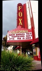 coming personalities at the Fox Theater, Main Street, Salinas, February 14, 2009 (/\/\ichael Patric|{) Tags: california street city red urban autostitch panorama plant sign composite geotagged marquee mainstreet theater downtown afternoon salinas sidewalk fox shows montereycounty february styx centralcoast westcoast 2009 stitched thetemptations michaelpatrick salinascalifornia oldtownsalinas downtownsalinas montereycountycalifornia vertorama february2009 panchobarraza geo:lat=366745 geo:lon=1216549