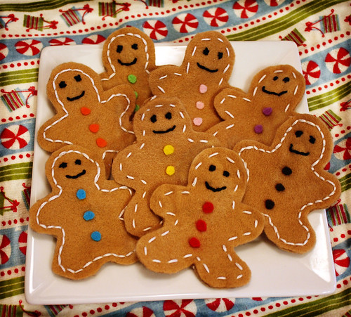 Gingerbread Felt Play Cookies
