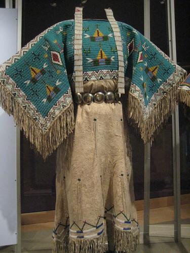 Yankton Dakota Sioux Two Hide Pattern Dress With Fully