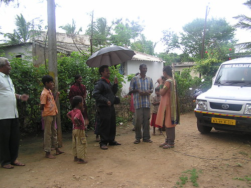 Apoorva Interviewing Farmer of Kirijaji by Project Jatropha.