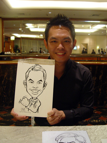 Caricature live sketching for wedding dinner 221109 - 18