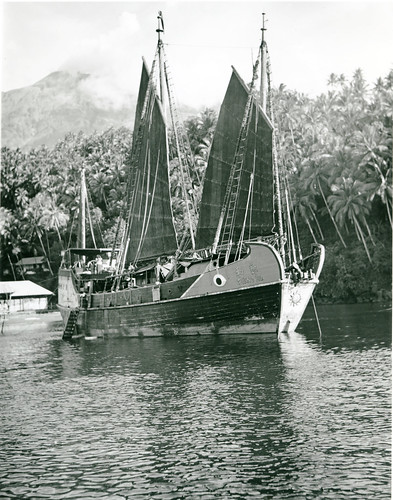 The Cheng Ho in the harbor at Siau Island