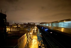 (Brian Hagy) Tags: chicago public skyline night train alley cta nightshot tracks el il transportation transit l
