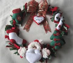 Guirlanda! (Arte & Mimos) Tags: natal felt noel guirlanda meia feltro papainoel rvore pinheiro bota fieltro
