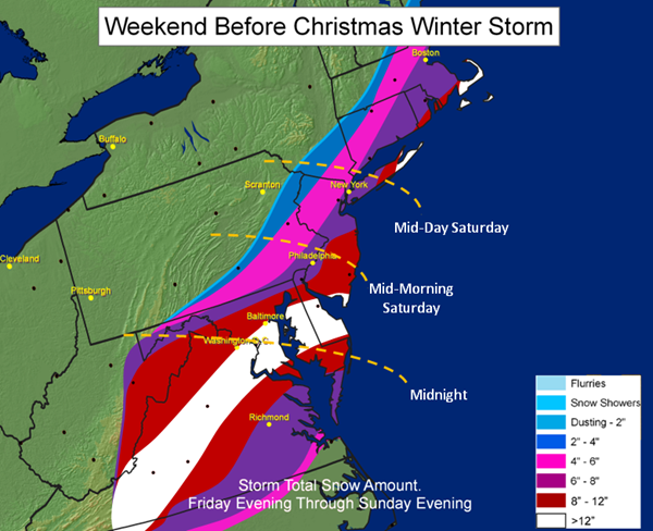 Dec 18-20 Winter Storm forecast
