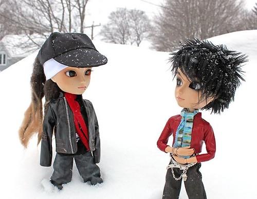 Tom & Bill in the snow por RequiemArt.com.