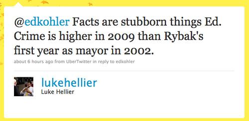 Luke Hellier's Lie about Minneapolis Crime 2002 vs 2009