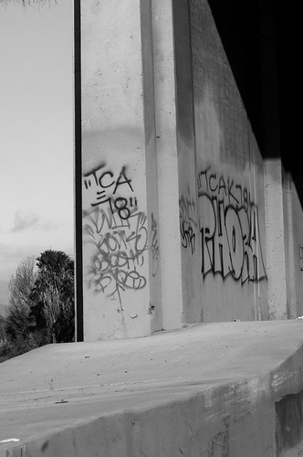 Graffiti on a bridge