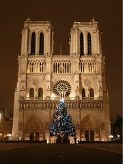 Christmas in Paris - Notre Dame  Nol (Sir Francis Canker Photography ) Tags: world christmas xmas trip travel panorama snow paris france tourism church rio rose seine skyline architecture night river landscape navidad noche interesting europe tor