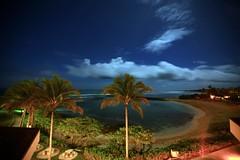 Night Descends (laszlo-photo) Tags: trees sky beach night clouds stars hawaii oahu palm clear turtlebay