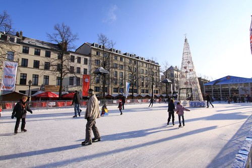 Skating rink in Brussels...