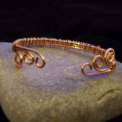 Copper bangle - back