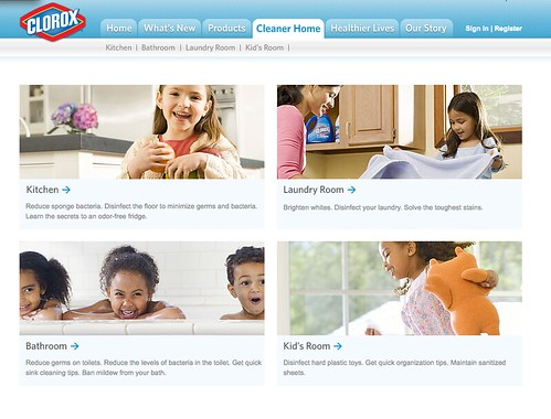 Clorox.com - Cleaner Home Tab