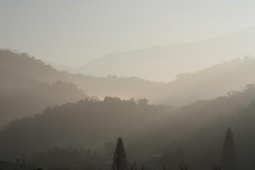 民宿的晨景