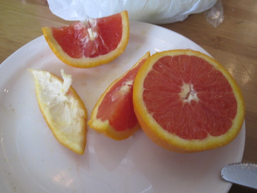 Delicious pink orange! (free from the bistro)