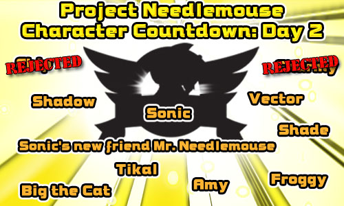 Project Needlemouse Character Countdown - Day 2