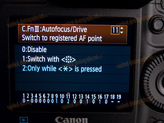 1D MarkIV C.FnIII Autofocus Switch to Registered AF Point NEW