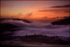 Candyfloss Dreams (angus clyne) Tags: red orange mist cold fog sunrise dawn scotland fantastic frost purple perthshire cottoncandy dunkeld strathmore magical candyfloss birnam flikcr colorphotoaward