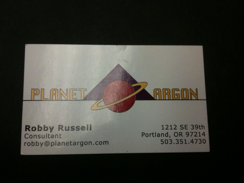 Our first business card