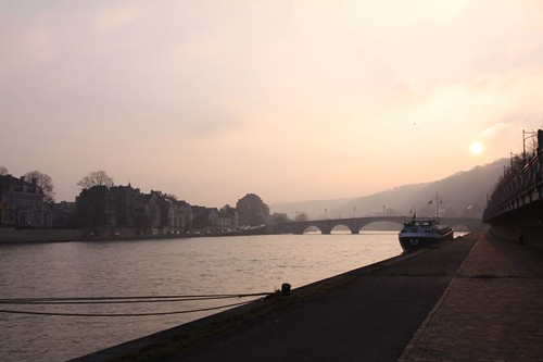 Namur at sunset...