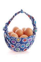 furoshiki yumurta sepeti