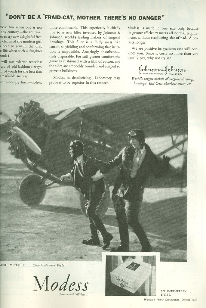 Modess ad, 1929