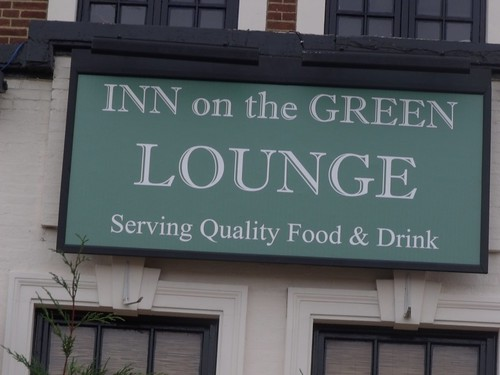 Inn on the Green, pub in Acocks Green Village - Lounge sign