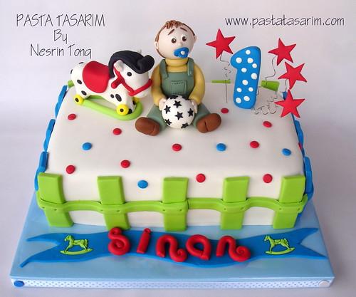 1ST BIRTHDAY CAKE - SINAN'S