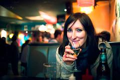 Steph (TGKW) Tags: portrait people woman glass girl bar night pub sitting wine glasgow steph www nightlife nicensleazy 8329
