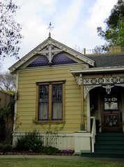 Victorian (smacss) Tags: california wood blue house yellow south decoration victorian gingerbread cutouts pasadena