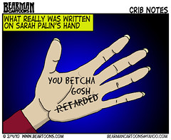 2 9 10 Bearman Cartoon Sarah Palins Hand