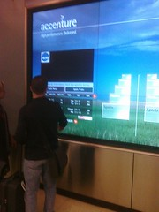 Rob using Acenture Touchwall