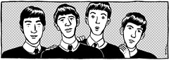 The Beatles (juliette la bte) Tags: blackandwhite illustration ink comic beat thebeatles 1965 beatlemania swinginglondon