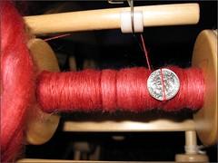 Ruby Merino-Silk, bobbin #1