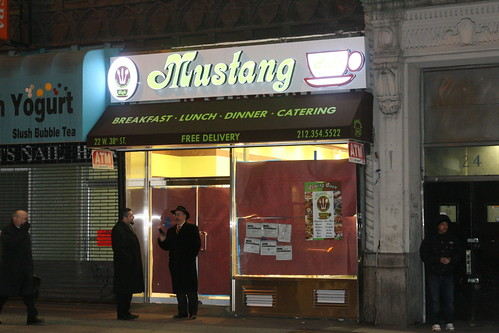 The future Mustang Cafe, West 38th Street, New York
