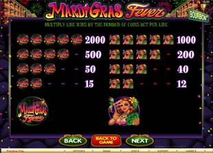 free Mardi Gras Fever slot mini symbol