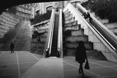 (Nocturnales) Tags: street shadow bw paris france geometry streetphotography ombre rue leshalles multiplefigures mikaelmarguerie