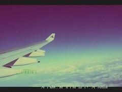 Time To Travel.. (- M7D . S h R a T y) Tags: travel sky time go to plain qatarairways cluods wordsbyme allrightsreserved